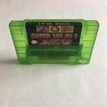 Лучший Картридж для видеоигр SNES 101 в 1, картридж для игры SNES 16 бит, Марка игр SNES, цвет NTSC U/C, США, Канада, английский