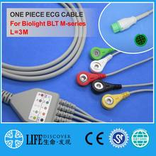 CABLE ECG con 5 cables de plomo snap para Biolight BLT m-series monitor de paciente(China)