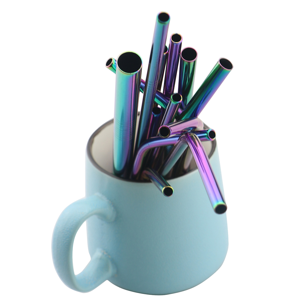 18/10 Drinking Reusable Straw Made Of High Quality Metal Colorful Straw With Cleaner Brush 1