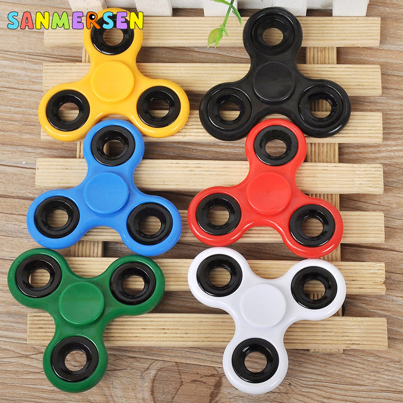 Fidget Spinner Gyro-Toys Finger-Top Anti-Stress Triangle Adult Kid Spiral Games Long-Time img5