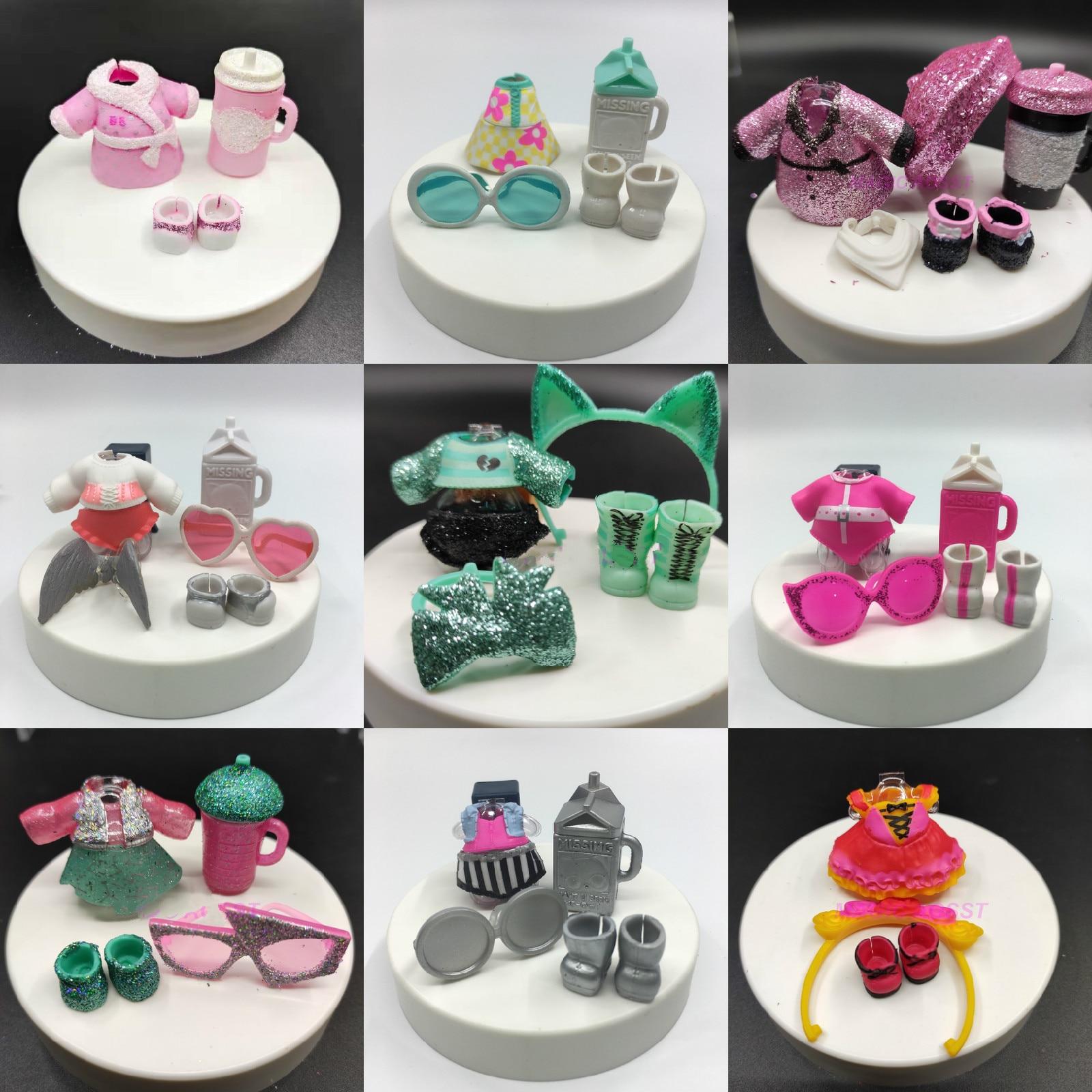 1 Set LOL Doll Clothes Glasses Bottle Shoes Accessorries Lol Accessories On Sale Original LOL Dolls Collection Drop