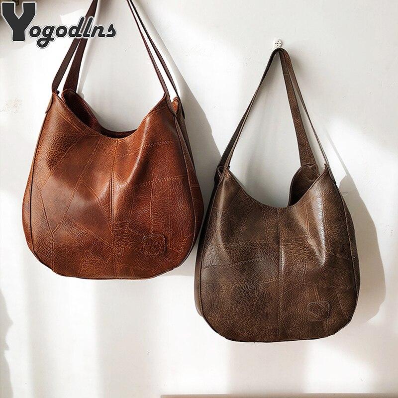 Sac à main Vintage en cuir PU pour femmes, sac à bandoulière de stylistes, sacs à main de luxe Hobo poignée supérieure marque de mode, fourre-tout de grande capacité