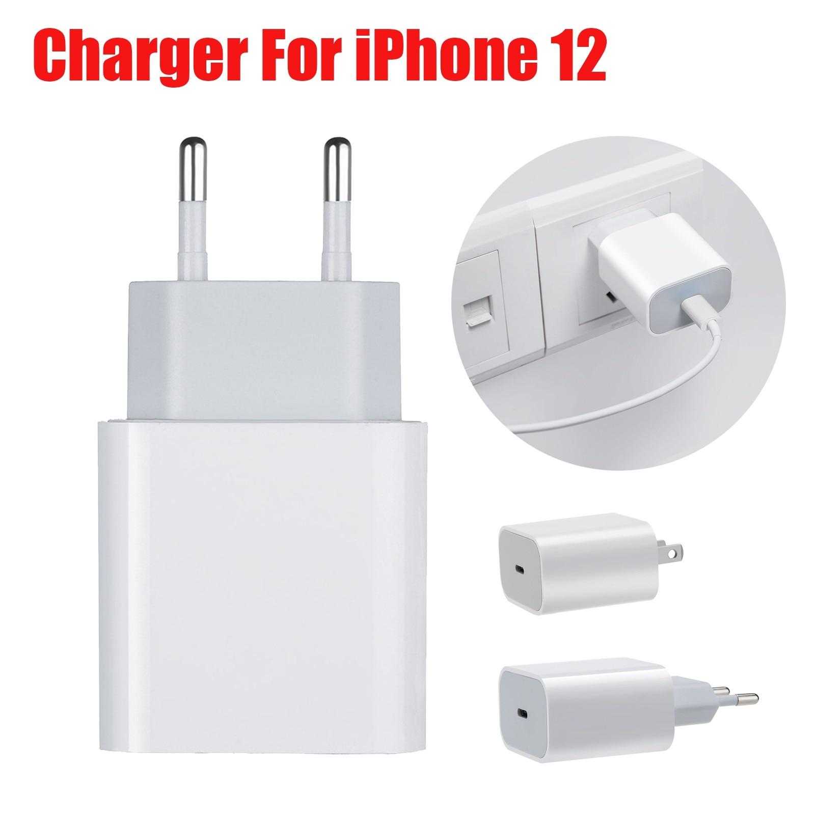 20 W Schnelle Ladung Ladegerät 18w Ladegerät USB-C Power Adapter Schnell Ladegerät Für iPhone 12 Qualcomm Quick Charge 3,0 reise Ladegerät