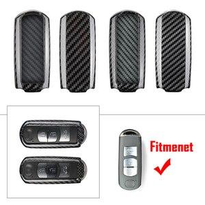 Чехол из углеродного волокна для автомобиля с дистанционным управлением для Mazda 2 3 5 6 CX-3 CX-5 CX-9