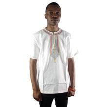 Arab Embroidered Moslem Ethnic Mens Tops Dubai Tunic Side Slit Henley Shirts Short Kaftan embroidered high low slit side blouse