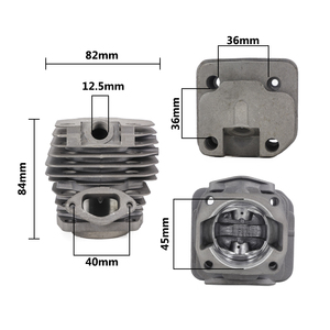 Image 2 - 1 Set Diameter 45mm Chainsaw Cylinder and Piston Set Fit 52 52cc Chainsaw Spare Parts for Gasoline/Oil Chainsaw