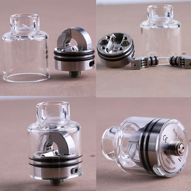 Original Hugsvape Ringlord RDA Single Coil With Ring-like Airflow 27mm Rebuildable Atomizer With BF Pin Squonk Vape Tank
