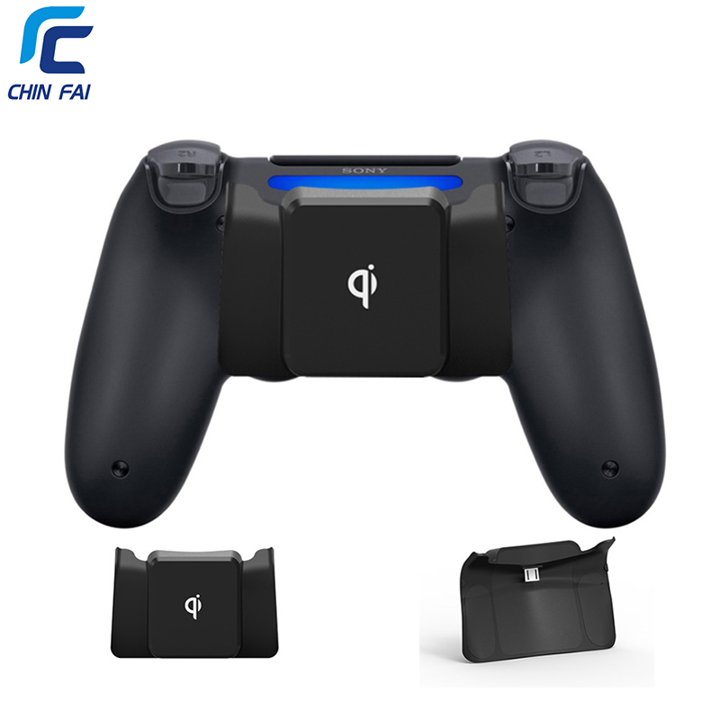 CHINFAI Wireless Charger Adapter For PS4/PS4 Slim/PS4 Pro Qi Wireless Charging Receiver For PS4 DualShock 4 Controller