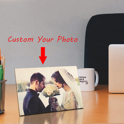 Custom Wooden Photo Frame Print Photoes Lover Wedding Picture Tabletop Decoration For Him Personalized Anniversary gifts