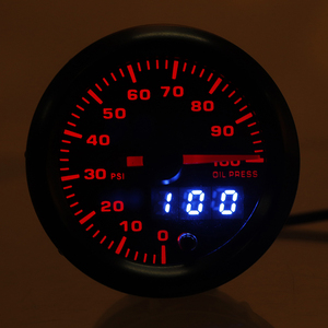 "Image 2 - 2"" 52mm Car Gauge LED Dual Display Boost Tachometer Water Temp Oil Exhaust Temp Oil Pressure Volt Air Fuel Ratio  Gauge 7 Colors"