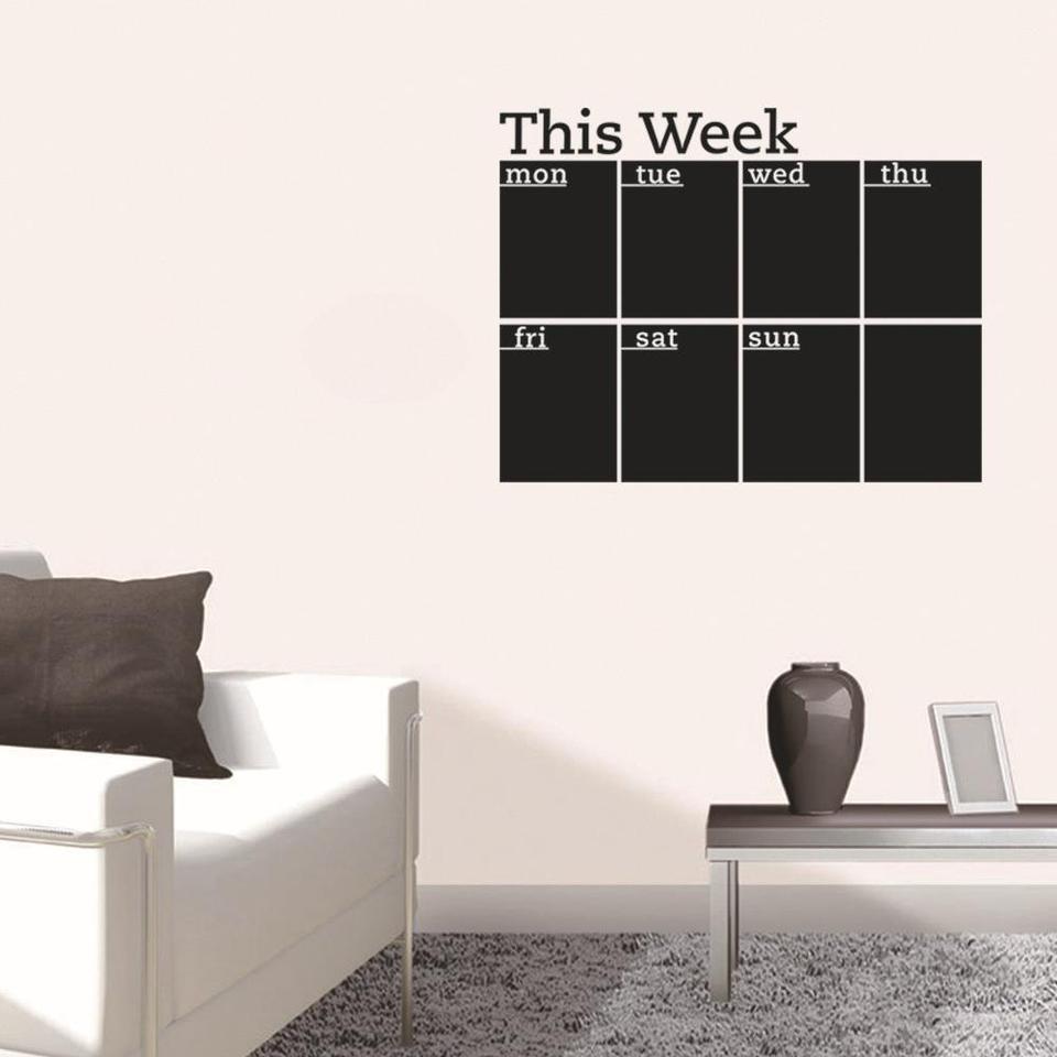 Twister Ck Removable Diy Blackboard Sticker For Office School Weekly Schedule Pvc Waterproof Blackboard Decoration Home Decor Plaques Signs Aliexpress