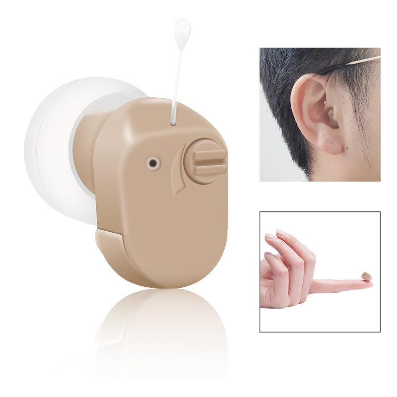 K-188 Mini Invisible Hearing Aid Sound Amplifier Ear Voice Amplifier Adjustable Tone Hearing Aid Hearing Device For Elderly Deaf