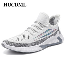 HUCDML Men's Summer Sports Shoes Leisure Breathable Sneakers for Men Soft Sole Mesh Zapatillas De Hombre Lace-up Male Footwear