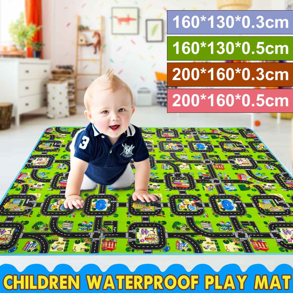 200 /160CM Baby Mat Letter Alphabet Farm Fur Sizes Baby Kid Play Mat Kid Play Mat Foldable Anti-skid Carpet Children Game Mat