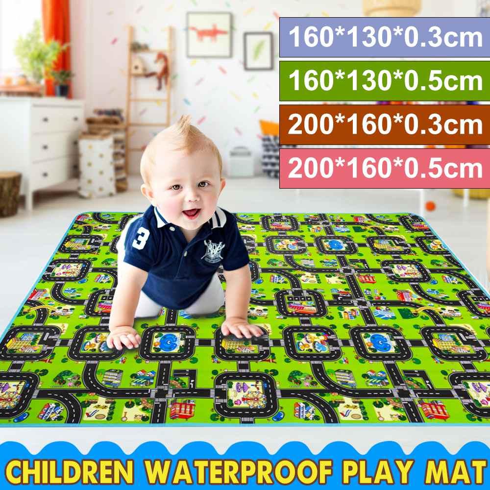 200 /160CM Baby Mat Letter Alphabet Farm Fur Sizes Baby Kid Play Mat Kid Play Mat Foldable Anti-skid Carpet Children Game Mat