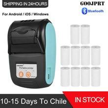 Mini-imprimante thermique sans fil avec Bluetooth, 58mm, pour tickets de caisse, pour téléphone Portable, Android, iOS, PC