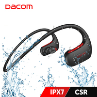 DACOM-auriculares inalámbricos L05 IPX7, por Bluetooth, auriculares estéreo de graves profundos con micrófono para deportes y correr