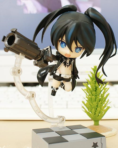 10cm Japanese Anime Action Figure Black Rock Shooter 106# Blade Q Version PVC Model Cute Cartoon Collectible Movable Doll Toys 2