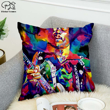 Rock singer Bob Marley/The Hillbilly Cat Hip Hop Pillow Case Polyester Decorative Pillowcases Throw Pillow Cover Square style-8 image