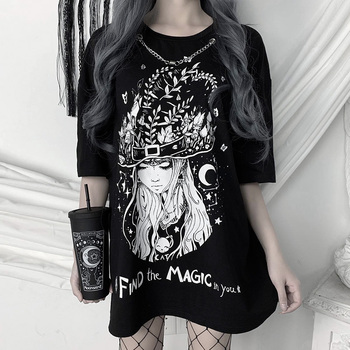 Find The Magic In You Women's Clothing & Accessories Tops & Tees T-Shirts cb5feb1b7314637725a2e7: Black