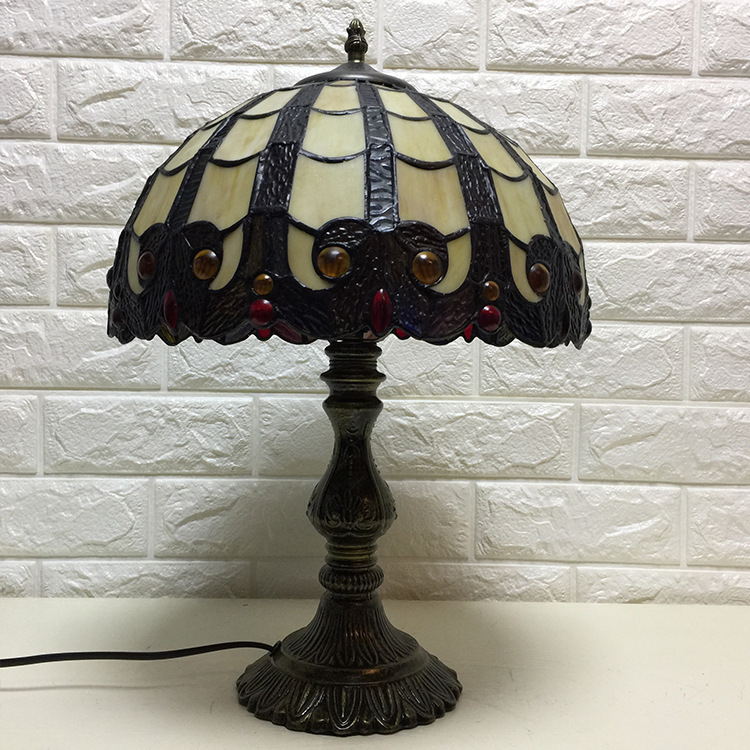 Mediterranean Decor Turkish Mosaic Lamps E27 Stained Glass Lampshade Bedroom Bedside Vintage Table Lamp Light Fixtures|LED Table Lamps| |  - title=