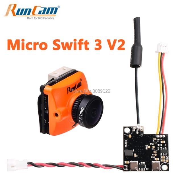 Runcam Micro Swift 3 V2 4:3 600TVL CCD Mini FPV Camera PAL/NTSC switchable Super WDR OSD Micro Camera for FPV Racing Drone