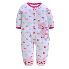 Monkey Love Print Fleece Newborn Baby Girl Overalls Romper Macacao Bebe Body Rompers New Born Clothes, Size 3-12M