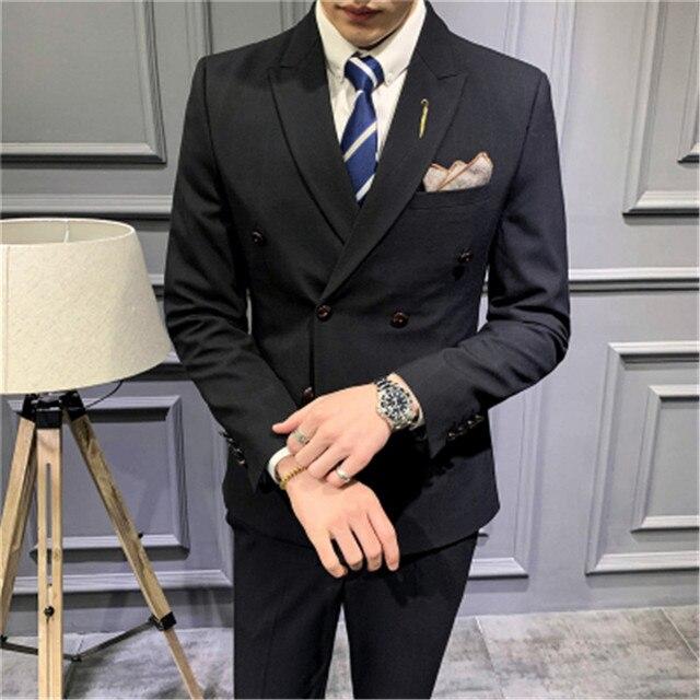 Фото мужские костюмы новинка 2020 двубортные приталенные 5xl takgirm