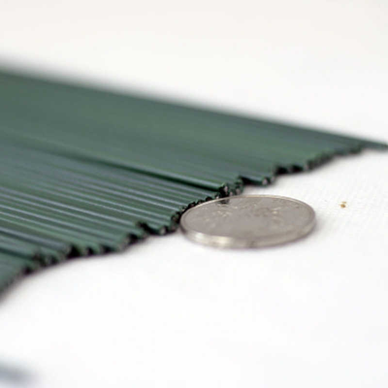 25pcs 2 #30cm ירוק פלסטיק לעטוף פרח מקל פרחוני קלטת ברזל חוט רשת פרח קצרמר נובע קרפט תפאורה סבון מחזיק פרחים גזע