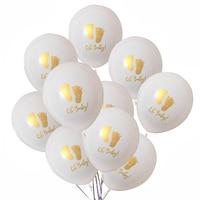 Globos de látex estampados para bebés, decoración de fiesta de cumpleaños, Baby shower, artículos para niñas, 10 Uds.