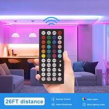 Mini contrôleur de lumière LED RGB, DC 12V, IR 24 clés 44 clés, télécommande pour bandes LED 3528 2835 5050 Modules de lumière