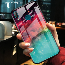 Heyytle Gradient Tempered Glass Case For Xiaomi Mi 9 se K20 Pro CC9E Starry Sky Redmi Note 7 CC9 Painted Space Capa