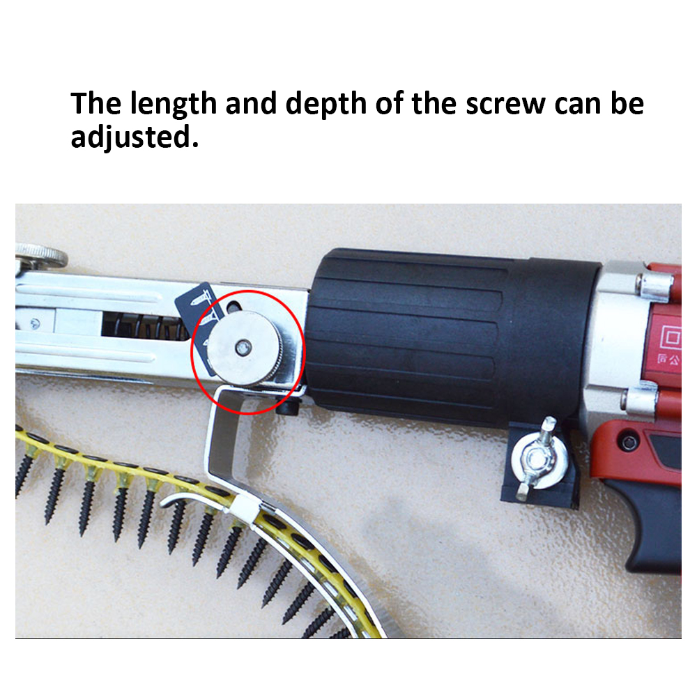 Image 5 - Automatic Multifunctional Handheld Electric Drill Nozzle Adapter Nail Exit Bracket and Chain Nails Kit Household Tools Set-in Nail Guns from Tools on