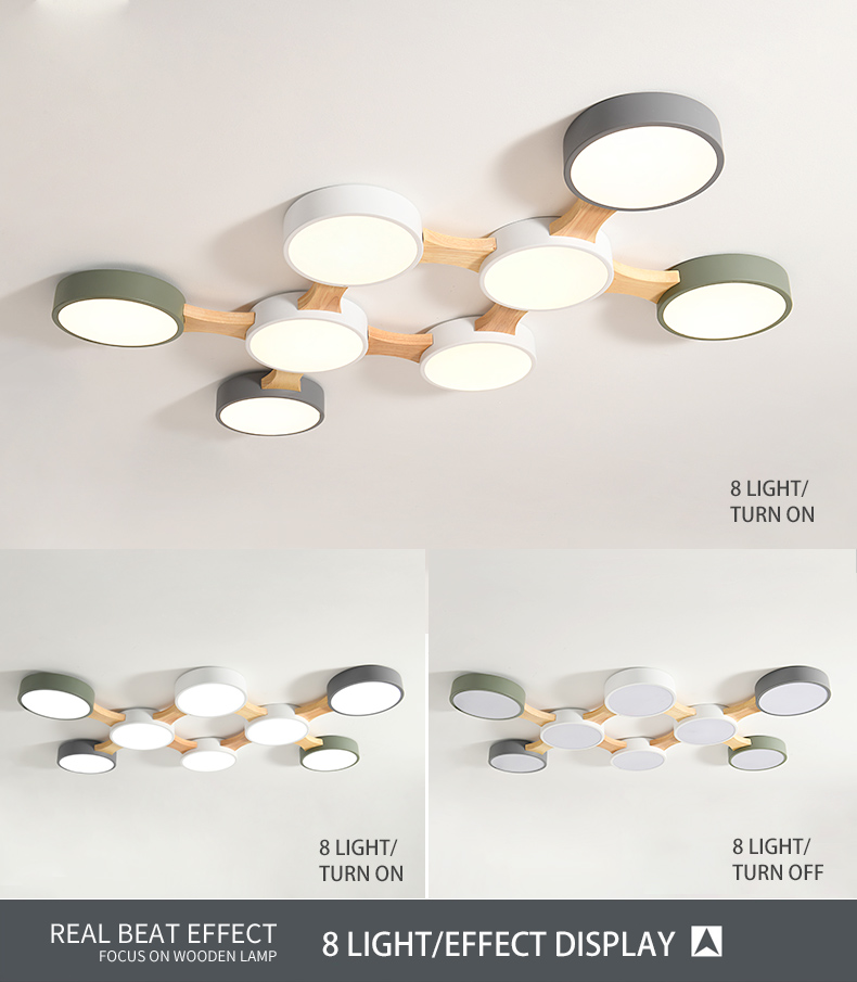 H55d9fbb170004679839eba963458fa5eO BOTIMI 220V LED Ceiling Lights With Round Metal Lampshade For Living Room Modern Surface Mounted Ceiling Light Wood Bedroom Lamp