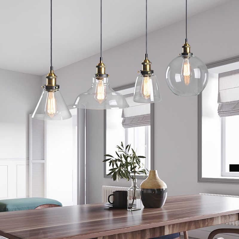Винтажные подвесные светильники стеклянные подвесные лампы Лофт промышленный подвесной светильник дымчато-серый Lamparas De Techo Colgante современный блеск кулон