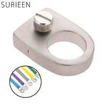 Портативная Рогатка-кольцо на палец из нержавеющей стали карманные мини-катапульты для быстрого нажатия плоская резиновая лента для охоты ...