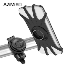 AZiMiYO Bicycle Mobile Phone Holder Silicone Motorcycle Bike Handlebar Stand with Magnetic swivel lock For iPhone