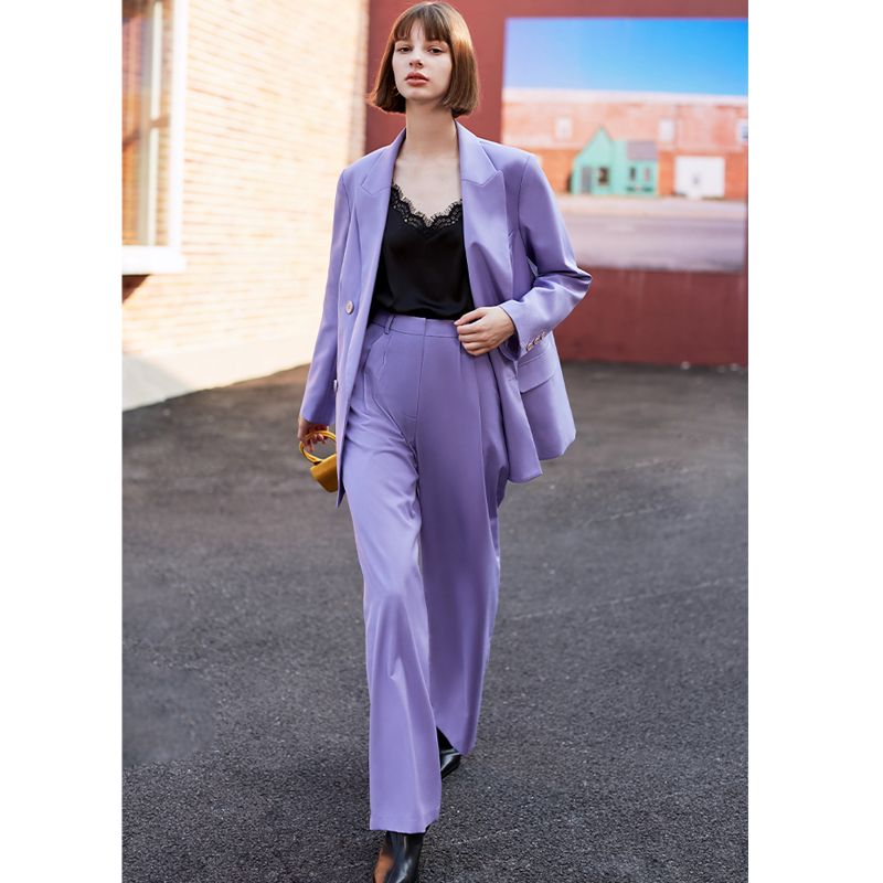 AEL Female   Wide     Leg   Suit   Pant   Work   Pant   office ladies Trousers Solid High Waist Women   Wide     Leg     Pants   Casual loose 2019 autumn