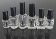 5ml Kleine Klar Runde Nagellack Flasche Glas High grade Leere Flasche mit einem Pinsel Kappe 300 teile/los