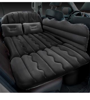 Bymaocar samochód łóżko nadmuchiwane wielofunkcyjny zewnątrz nadmuchiwany materac łóżko samochodowe materiały samochodowe tanie i dobre opinie CN (pochodzenie) Two in one travel bed BY-908 black rice gray 170*75CM PVC + flocking