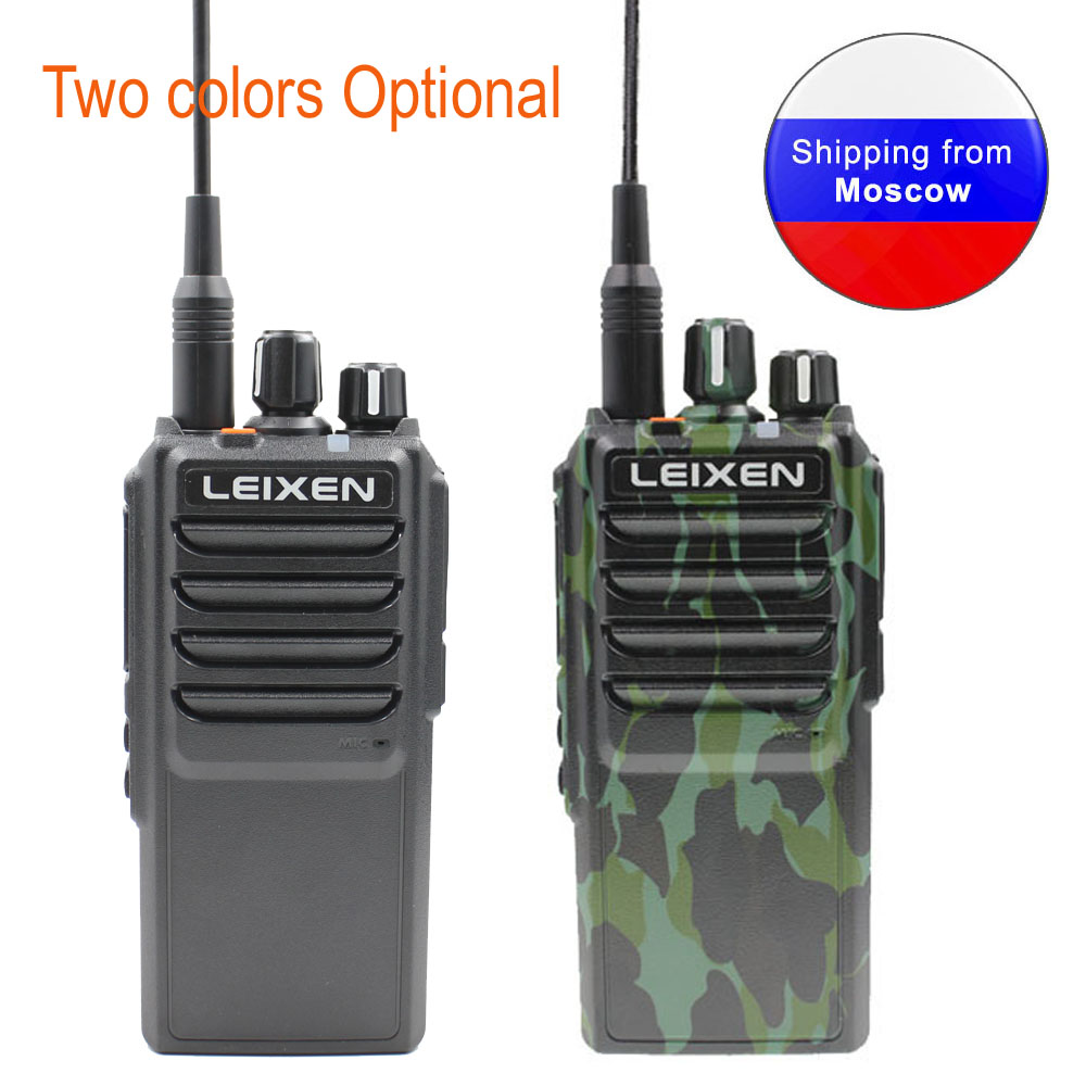 Long Distance Two Way Radio LEIXEN NOTE High Power 20W Camouflage UHF 400-480MHz 4000mAh Ham Radio