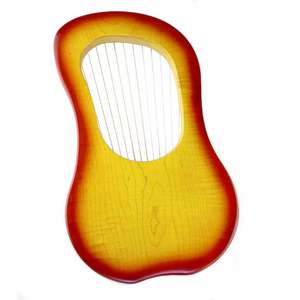 Image 3 - GECKO 15 String Wooden Lyre Harp Metal Strings Canada MAPLE  String Instrument with Carry Bag