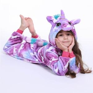Childrens Animal Cosplay Hoddie Pajamas Carnival Sleerwear Rainbow Unicorn For Kids Onesie animal Girl Lovely Pyjama