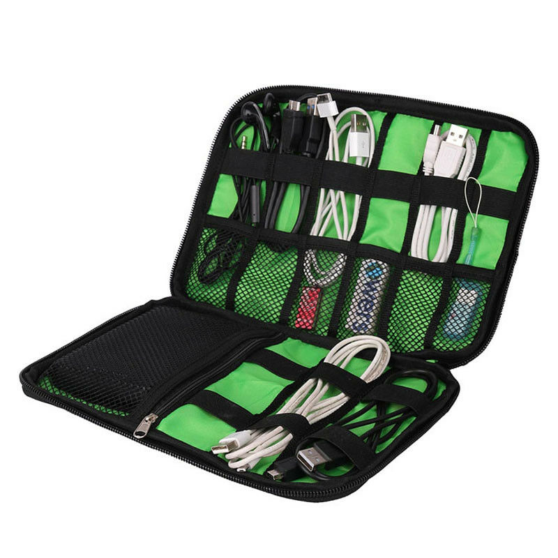 Earphone Storage Bag Portable Drive Digital Organizer Kit Wire Pen Memory Card USB Data Flash Accessories Cable Travel Case