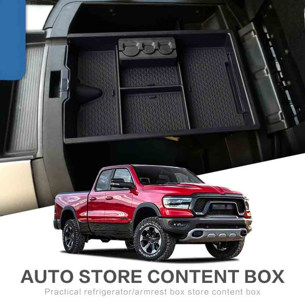 Ram 1500 Accessories >> Us 7 27 33 Off For Dodge Ram 1500 Accessories 2009 2018 Armrest Secondary Storage Box Glove Pallet Center Console Tray Divider Stickers On