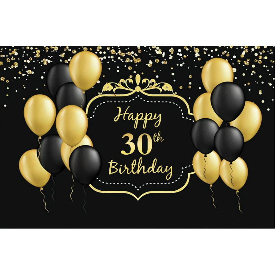Happy 60th Birthday Party Backdrop Baby Shower Photography Background Holiday Celebration Photo Booth Studio Decor