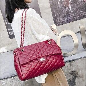 Image 3 - BelaBolso fil sacs à bandoulière grande capacité sacs à poignée supérieure pour les femmes chaîne sacs à main en cuir PU femmes sac de luxe femme HMB654