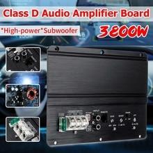 3800W araba Stereo amplifikatör 2 kanal alüminyum Amp ses HIFI oto bas hoparlör amplifikatör araba Surround ses hoparlörü Subwoofer