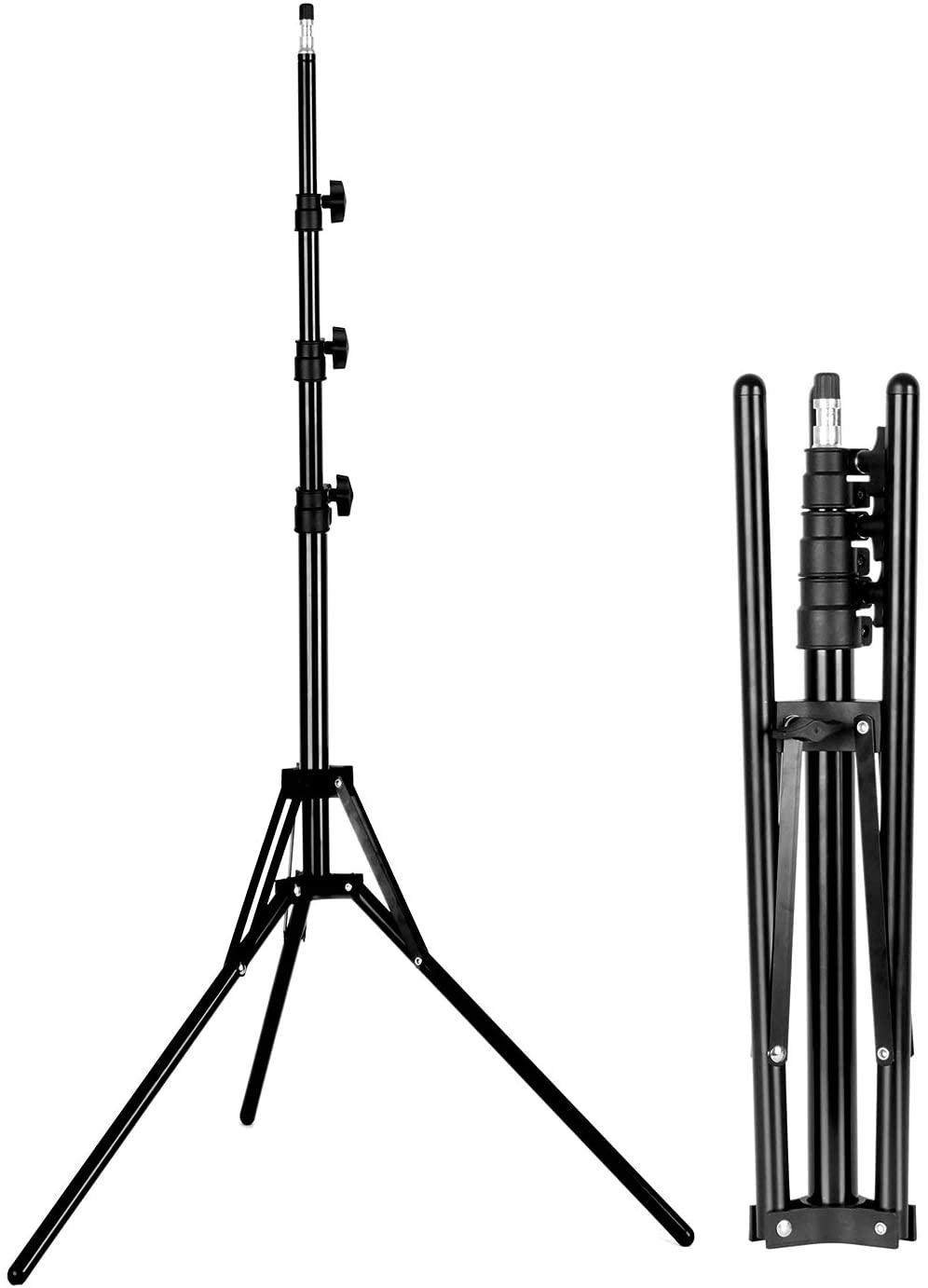 Tripod Light Stand Photography Fold Portable Lightweight 200cm/6ft Photo Studio For Flash Reflector Softbox Umbrella Video Shoot