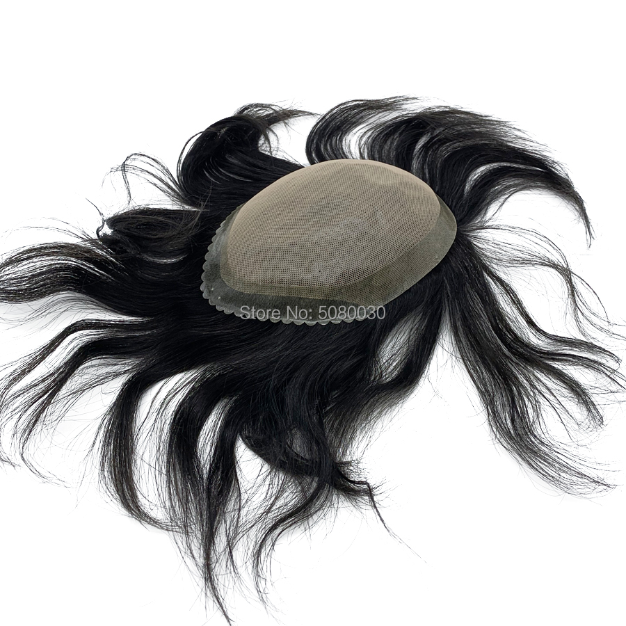 Custom Made New Style Men Lace Wig Straight Hair Topper Hair